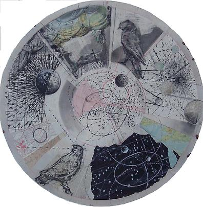 <b>Drawing from 'Preparing the Flute' (Tondo - Birds and sky)</b>, 2006 Image