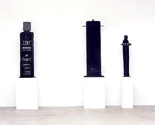 Installation view (from left to right):  <b>U.M.</b>, 1997 <b>Oiler</b>, 2002 <b>1/2 A Crucifix (for an architect)</b>, 1999 Image