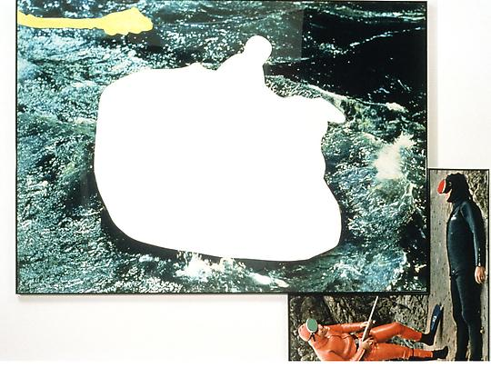 <b>Raft and Two Divers (with Yellow Intrusion)</b>, 1990 Image