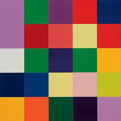 <b>25 Colors (902-31)</b>, 2007, 19 1/8 x 19 1/8 in. ( 48.5 x 48.5 cm ) Image