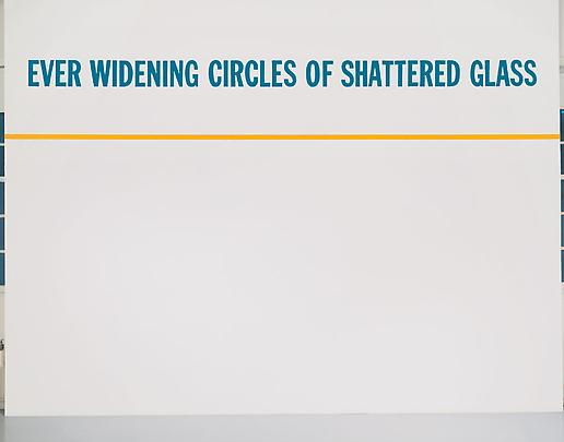 LAWRENCE WEINER <b>Ever Widening Circles of Shattered Glass</b>, 1985 Image