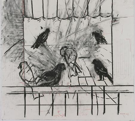 <b>Drawing from 'Learning the Flute' (Birds)</b>, 2003 Image