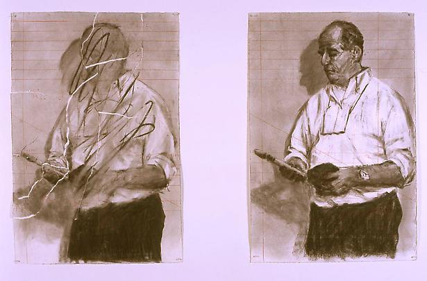 <b>Torn selfportrait / Selfportrait</b>, 2003 Image