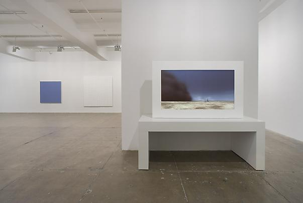 Installation view North Gallery (from left to right):  RUDOLF DE CRIGNIS <b>Painting # 03-11</b>, 2003  BRIDGET RILEY <b>Static 4, 1966</b>  JOHN GERRARD <b>Dust Storm (Dalhart, Texas. U.S.A.)</b>, 2007 Image