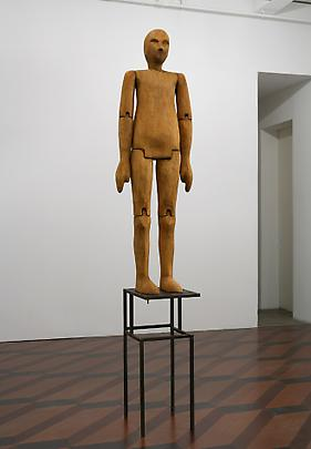 <b>Wooden Figure on Optical Floor</b>, 1987 Image