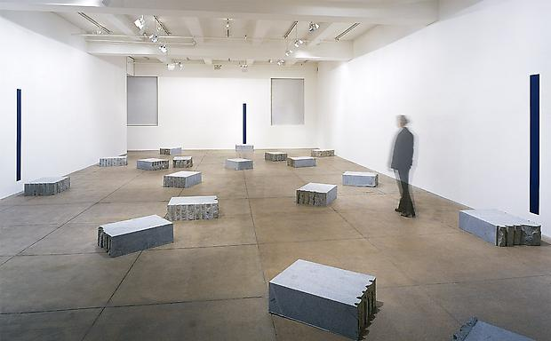 "Installation view North Gallery  <b>Il panorama verso Oltremare intorno e dove le stelle si avvicinano di una spanna in piu (the panorama towards ""Oltremare"" where the stars are coming one span nearer)</b>, 2000 Image"