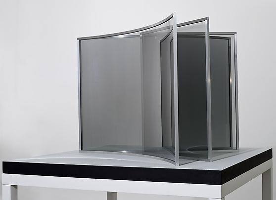 <b>Two V's</b>, 2009 2-way mirror glass, aluminum, MDF, acrylic 27 1/2 x 42 1/8 x 42 1/8 in. ( 70 x 107 x 107 cm ) Inv#12346 Image