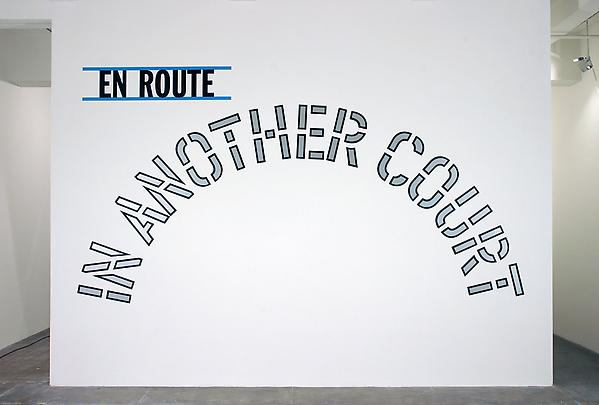 <b>EN ROUTE:AT ANOTHER TIME EN ROUTE:TO ANOTHER STAGE EN ROUTE: IN ANOTHER COURT EN ROUTE: ON ANOTHER PLANE EN ROUTE: VIA ANOTHER ROUTE</b>, 2005 Image