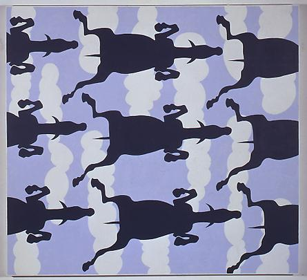 JOHN WESLEY <b>Untitled (Horses and Clouds)</b>, 1989 Image