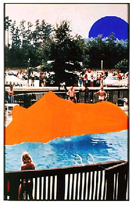 <b>Large Object (Orange) in Water and Blue Moon</b>, 1991 Image