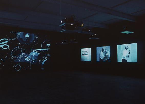 Installation view  <b>Journey to the Moon and Fragments for Georges Milies</b>, 2003 Image