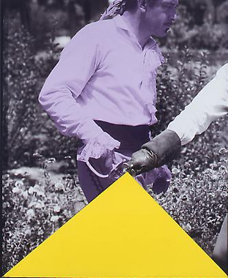 <b>Blockage (Yellow): And Person with Sword (Violet)</b>, 2004 Image