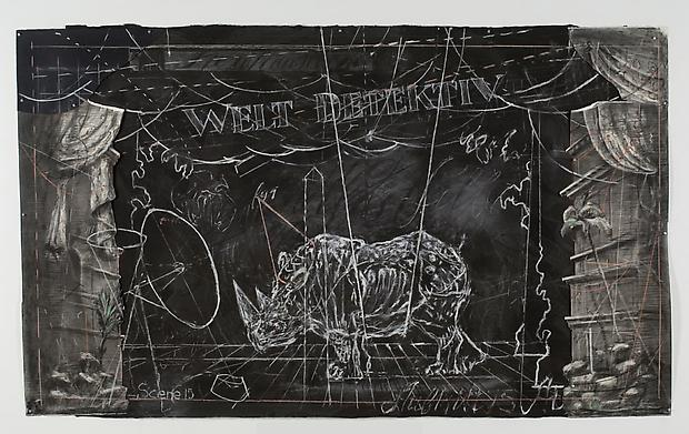 <b>Drawing from 'Preparing the Flute' (Welt Detektiv - large rhino)</b>, 2006 Image