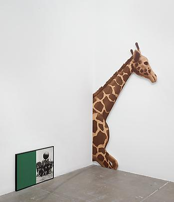 <i>Two Stories (Yellow and Blue) and Commentary (with Giraffe)</i>, 1989 (detail) Image