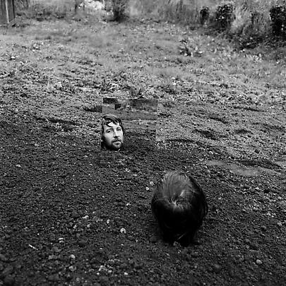 KEITH ARNATT <b>Self Burial with Mirror</b>, 1969 Image