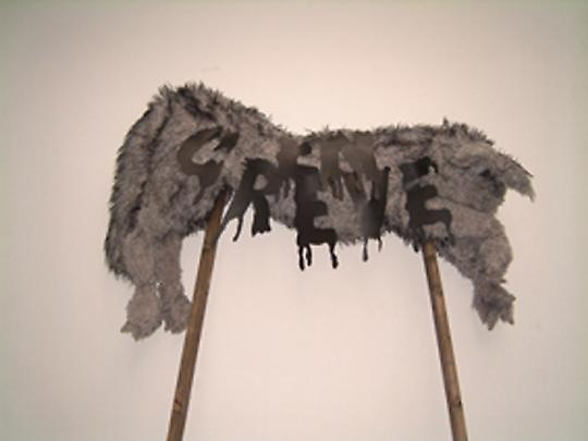 <b>Piquet de greve (Picket sign)</b>, 2004 Image