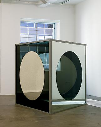 Dan Graham  <b>Triangular Solid with Circular Inserts, Variation E</b>, 1989-2007 Image