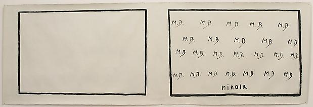 MARCEL BROODTHAERS <b>Miroir</b>, 1971 Image