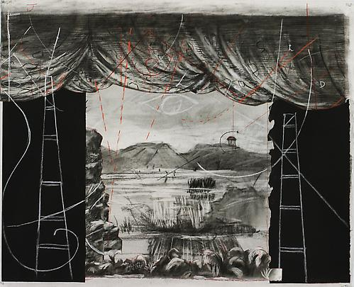 <b>Drawing from 'Preparing the Flute' (Collage stage setting)</b>, 2005 Image