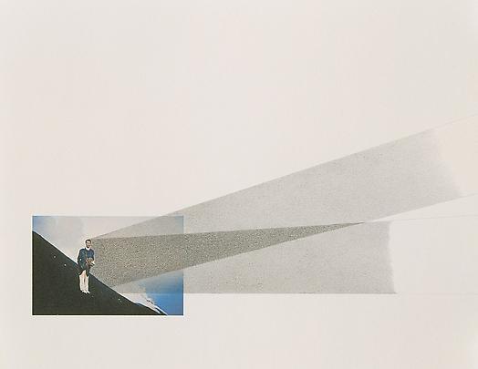 La Mia ombra Verso L'Infinito Dalla Cima Dello Stromboli Durante L'Alba Del 16 Agosto, 1965 (Study A), 1965-2000 Graphite drawing and Iris print on paper 47 1/8 x 35 in. ( 119.7 x 89 cm ) Inv.#7335 Image