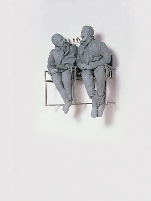 <b>Two Seated on the Wall</b>, 2001 Image