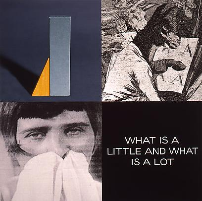 <b>Tetrad Series: What is a Little and What is a Lot</b>, 1999 Image