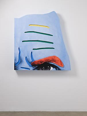 <b>Raised Eyebrows/ Furrowed Foreheads: (Orange Eyebrow and Blue Skin)</b>, 2008 Image
