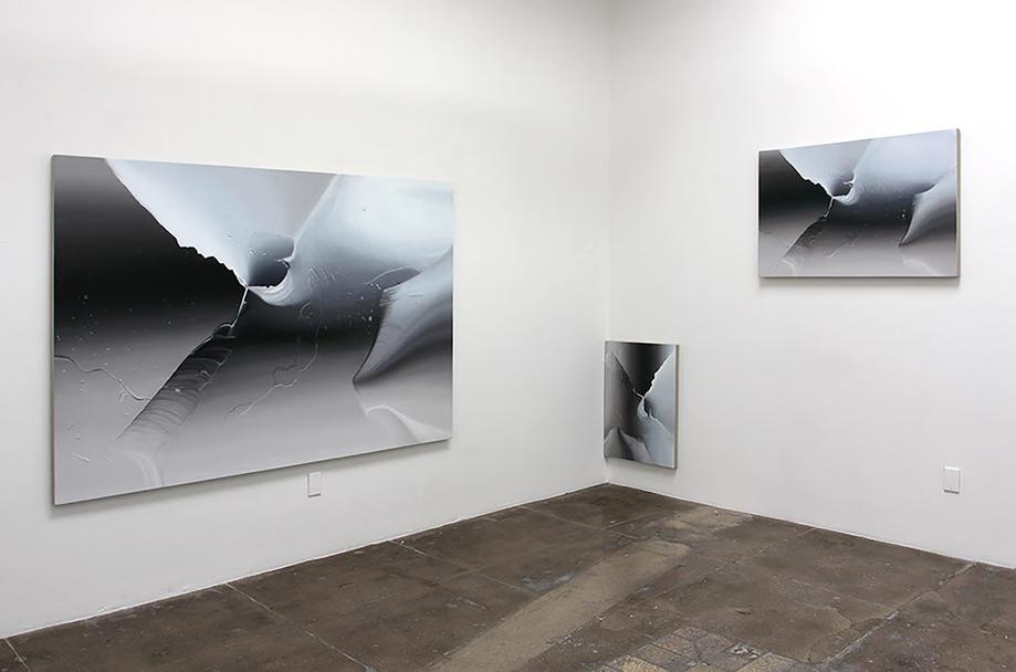 Ben Weiner / Peak, 2013 / oil on canvas / 55 x 65 inches / partial installation view / Dallas Art Fair