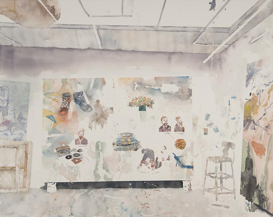 David Rathman / All My Lovelies, 2010 / Watercolor on paper / 48 x 39.25 inches