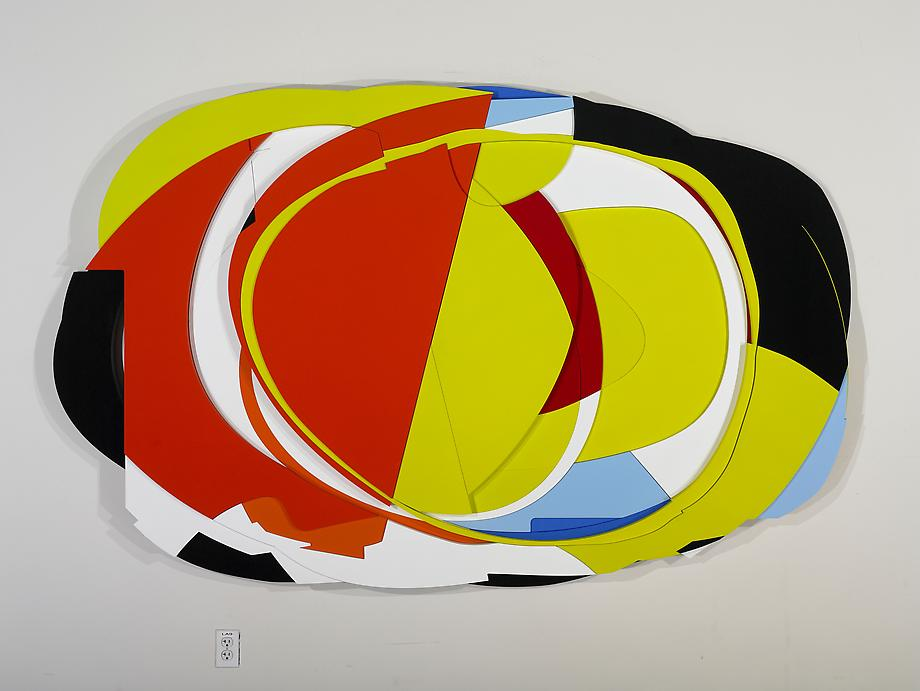 LHC, 2008 / acrylic and flashe on corafoam / 58 x 93 x 4 inches collection of the Frederick R. Weisman Art Foundation