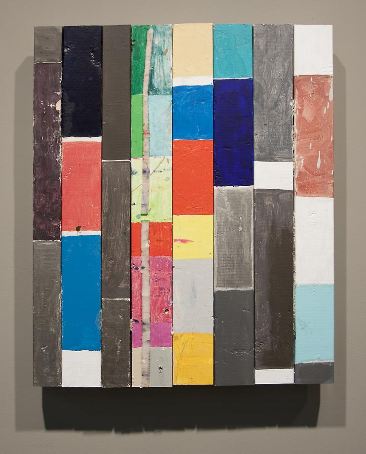 Scrap Bars, 2009 / mixed media on wood / 32 x 26.25 x 3.25 inches