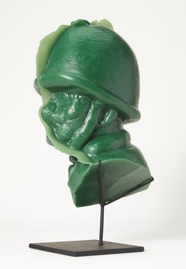 Soldier Portrait #1, 2015 / resin cast / 20 x 10 x 10 inches
