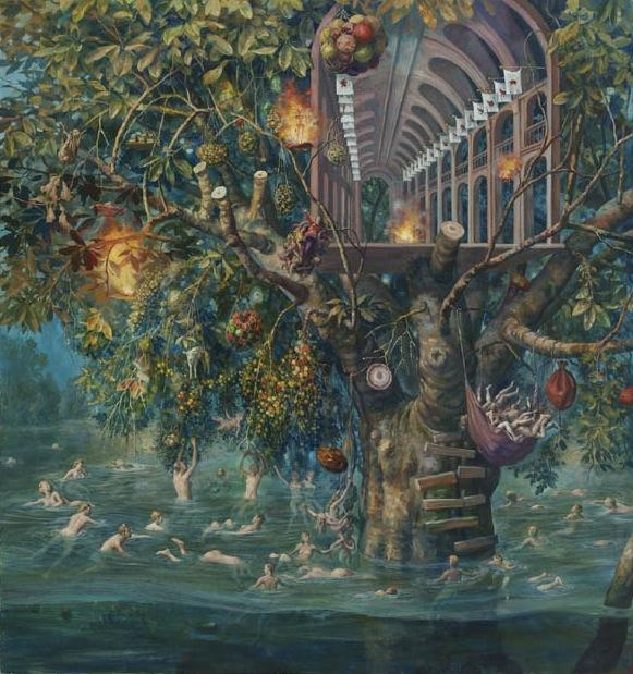 Tree House, 2011 / oil on canvas / 64 x 60 inches