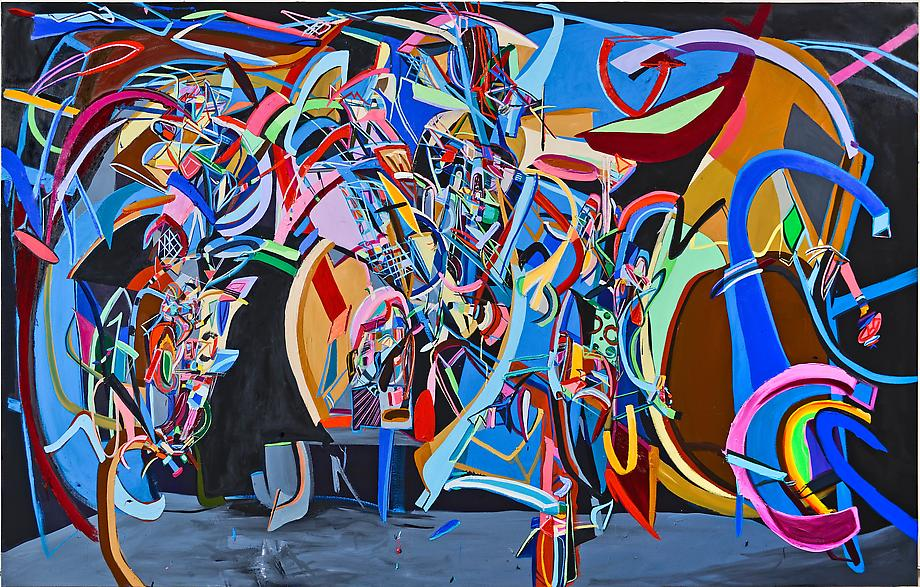 Flip Side, 2012 / oil on canvas / 76 x 120 inches