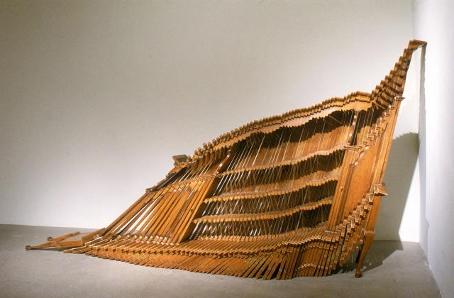 Hutch, 2001 / Wood, wood products, and brass hardware / 156 x 72 x 24 inches / Collection of the McNay Art Museum