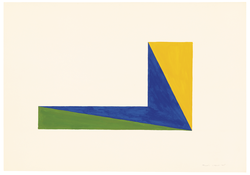 <I>1 April '65</i> 1965 Acrylic on paper 21 3/4 x 31 1/4 inches; 55 x 79 cm