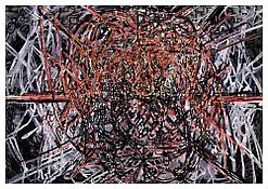 <i>Graphic Primitives, 9</i> 1998 Oil and alkyd resin on linen 75 x 108 inches; 191 x 274 cm