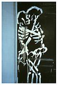<i>Skeletons coupling, NYC</i> 1983 Cibachrome 24 x 20 inches; 61 x 51 cm