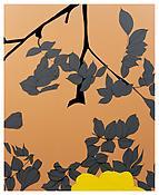<i>Grey Leaves</i> 2004 Enamel on aluminum 78 3/4 x 64 1/8 inches; 200 x 163 cm