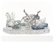 Jeff Koons <i>Violet Ice (Kama Sutra)</i> 1991 Glass 13 x 28 x 17 inches; 33 x 71 x 43 cm