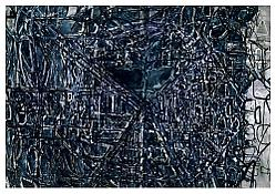<i>Graphic Primitives, 3</i> 1998 Oil and alkyd resin on linen 75 x 108 inches; 191 x 274 cm