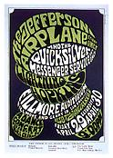 Wes Wilson <i>Jefferson Airplane, Quicksilver Messenger Service, Lightning Hopkins. Fillmore Auditorium, April 29 - 30, 1968</i> 1968 Offset Lithograph 21 1/4 x 14 inches; 51 x 36 cm