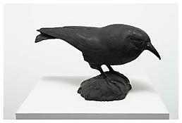 <i>Raven</i> 1986 Black rubber 11 x 16 1/4 x 5 5/8 inches; 28 x 41 x 14 cm