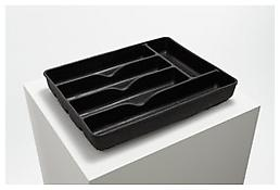 <i>Divider</i> 1987 Black rubber 2 x 10 1/2 x 13 3/8 inches; 27 x 34 x 5 cm