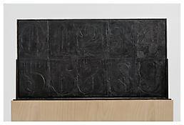 <i>0 - 9</i>, recto, 2008, White bronze, 20 1/4 x 38 1/4 x 1 5/16 inches; 51 x 97 x 3 cm
