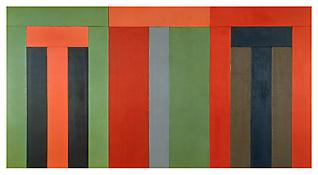 <i>Thira</i> 1979-1980 Oil and beeswax on canvas 96 x 180 inches (overall); 244 x 457 cm (overall)