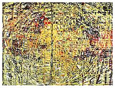 <i>Color and Information</i> 1998 Oil and alkyd resin on canvas 108 x 144 inches; 274 x 366 cm