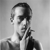 Peter Hujar <I>David Wojnarowicz Smoking</i> 1981 Vintage gelatin silver print 14 3/4 x 14 3/4 inches; 38 x 38 cm