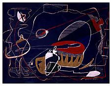 <i>Untitled</i> 1933 Tempera on blue-print 17 1/2 x 23 3/4 inches