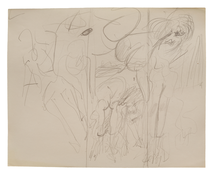 Willem de Kooning <i>Untitled (Marilyn Monroe)</i> c. 1960-65 Graphite on paper 8 x 10 inches; 20 x 25 cm